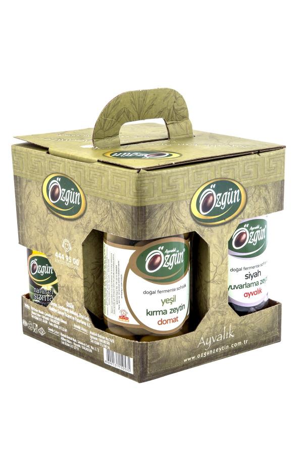 Özgün Zeytincilik'ten 5 doğal ürünün bulunduğu hediye paketi. Kaçırmayın.
