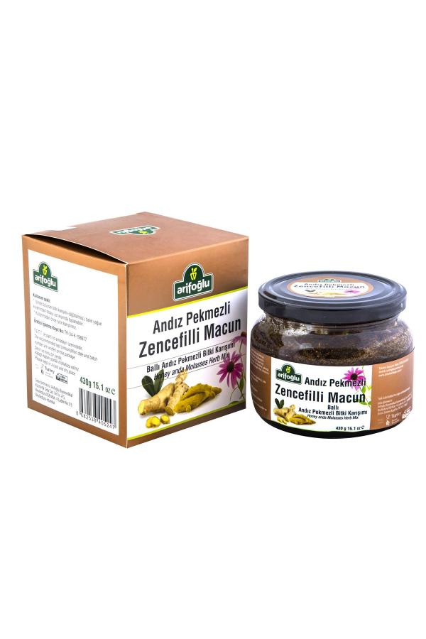 Andız pekmezinin zencefille muhteşem karışımı. Arifoğlu'ndan tamamen organik ve doğal andız pekmezli zencefilli macun. 10dangelsin.com'da hemen deneyin.