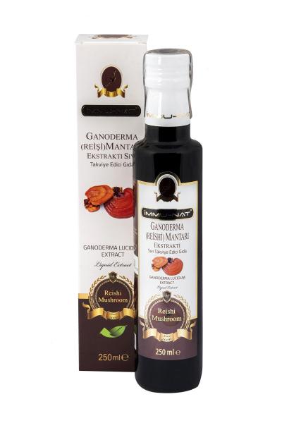 tamamen organik ve doğal İmmunat ganoderma (reişi) mantarı ekstraktı. 10dangelsin.com'da.