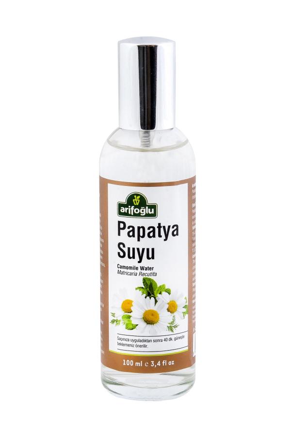 saç renginin doğal yollarla açılmasına destek olan organik cam şişe sprey papatya suyu.