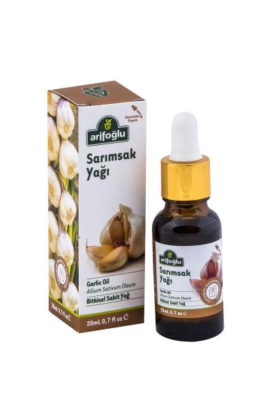 mantar veya virüs sebepli hastalıklara karşı korumaya veya bu hastalıkları iyileştirmeye yardımcı organik ve doğal sarımsak yağı.